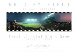 Wrigley Field 1st Night Game